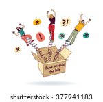 people creative team think... | Shutterstock .eps vector #377941183