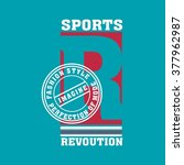 graphic or slogan sports for... | Shutterstock .eps vector #377962987