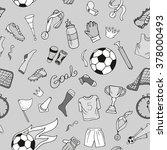 monochrome sport seamless... | Shutterstock .eps vector #378000493