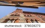 guinigi tower facade  famous... | Shutterstock . vector #378028273