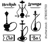 hookah labels. set of hookah... | Shutterstock .eps vector #378030703