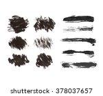 big set of textured dry brush... | Shutterstock .eps vector #378037657