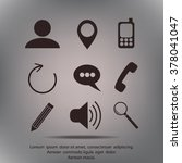 internet icons set | Shutterstock .eps vector #378041047