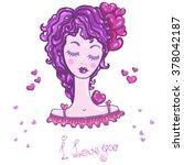 vector hand drawn illustration  ... | Shutterstock .eps vector #378042187