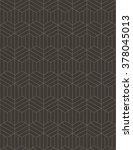 abstract geometric line hexagon ... | Shutterstock .eps vector #378045013