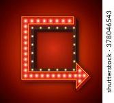 neon arrow retro frame with... | Shutterstock .eps vector #378046543