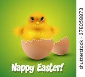 chick hatching form an egg... | Shutterstock .eps vector #378058873