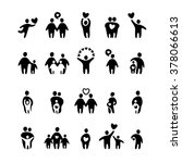 family icons. family icons set. ... | Shutterstock . vector #378066613