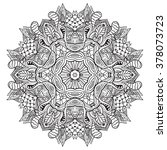 adult coloring page. mandala... | Shutterstock .eps vector #378073723