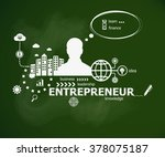 entrepreneur concept and man.... | Shutterstock .eps vector #378075187