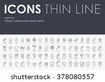 medicine thin line icons | Shutterstock .eps vector #378080557