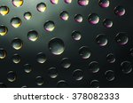 drops of water on a black... | Shutterstock . vector #378082333