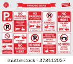 car parking sign  car parking... | Shutterstock .eps vector #378112027