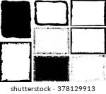 grunge frame texture set  ... | Shutterstock .eps vector #378129913