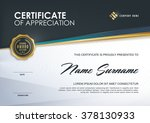 certificate template with... | Shutterstock .eps vector #378130933