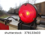A Bright  Red Light On A...
