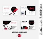 make up  business card template ... | Shutterstock .eps vector #378135463