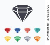 diamond sign icon. jewelry... | Shutterstock .eps vector #378135727