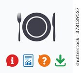 plate dish with fork and knife. ...   Shutterstock .eps vector #378139537