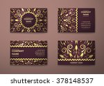 vector vintage visiting card... | Shutterstock .eps vector #378148537