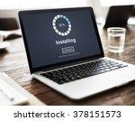 installing bar load waiting... | Shutterstock . vector #378151573
