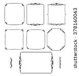 set calligraphic frames ... | Shutterstock .eps vector #378160063