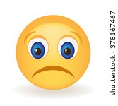 sad smiley face | Shutterstock .eps vector #378167467