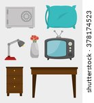 hotel products and services... | Shutterstock .eps vector #378174523