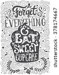 handdrawn lettering poster with ... | Shutterstock .eps vector #378174667