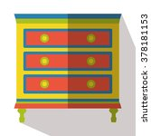 chest of drawers flat icon... | Shutterstock .eps vector #378181153