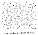 set of different arrows and... | Shutterstock .eps vector #378182077