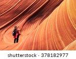 A Traveler Hikes Into