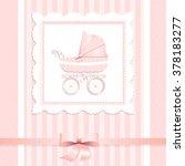 vector illustration of pram for ... | Shutterstock .eps vector #378183277