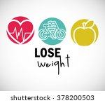 lose weight design  | Shutterstock .eps vector #378200503
