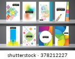 abstract composition  business... | Shutterstock .eps vector #378212227