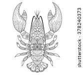 lobster line art design for... | Shutterstock .eps vector #378240373
