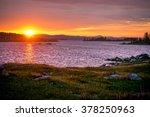 Spring Sunset On The Lake