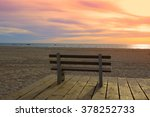 Bench On A Background Of Ocean...