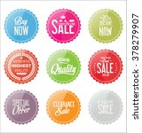 modern sale stickers and tags... | Shutterstock .eps vector #378279907