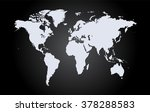 world map vector flat white | Shutterstock .eps vector #378288583