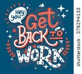 hand drawn typography...   Shutterstock .eps vector #378294133