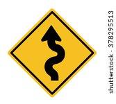winding road sign | Shutterstock .eps vector #378295513