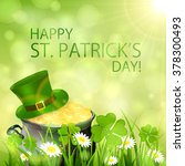 sunny patrick's day background...   Shutterstock .eps vector #378300493