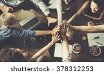 business team celebration party ... | Shutterstock . vector #378312253