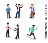 business people. everyday life. ... | Shutterstock .eps vector #378314173