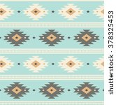 light blue navajo ethnic... | Shutterstock .eps vector #378325453