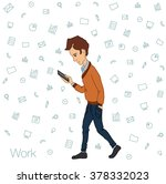 icon of mobile notification of... | Shutterstock .eps vector #378332023