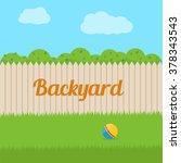 house backyard. flat style... | Shutterstock .eps vector #378343543