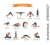Vector Set Of Yoga Poses...