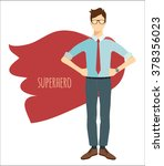 young businessman in flat style.... | Shutterstock .eps vector #378356023